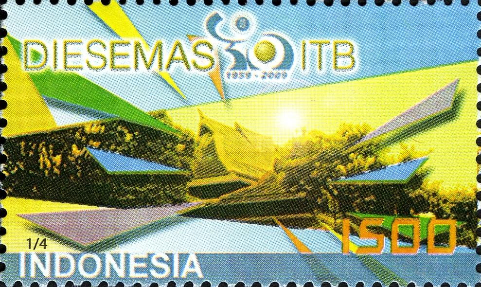 Prangko peringatan 50 tahun Institut Teknologi Bandung