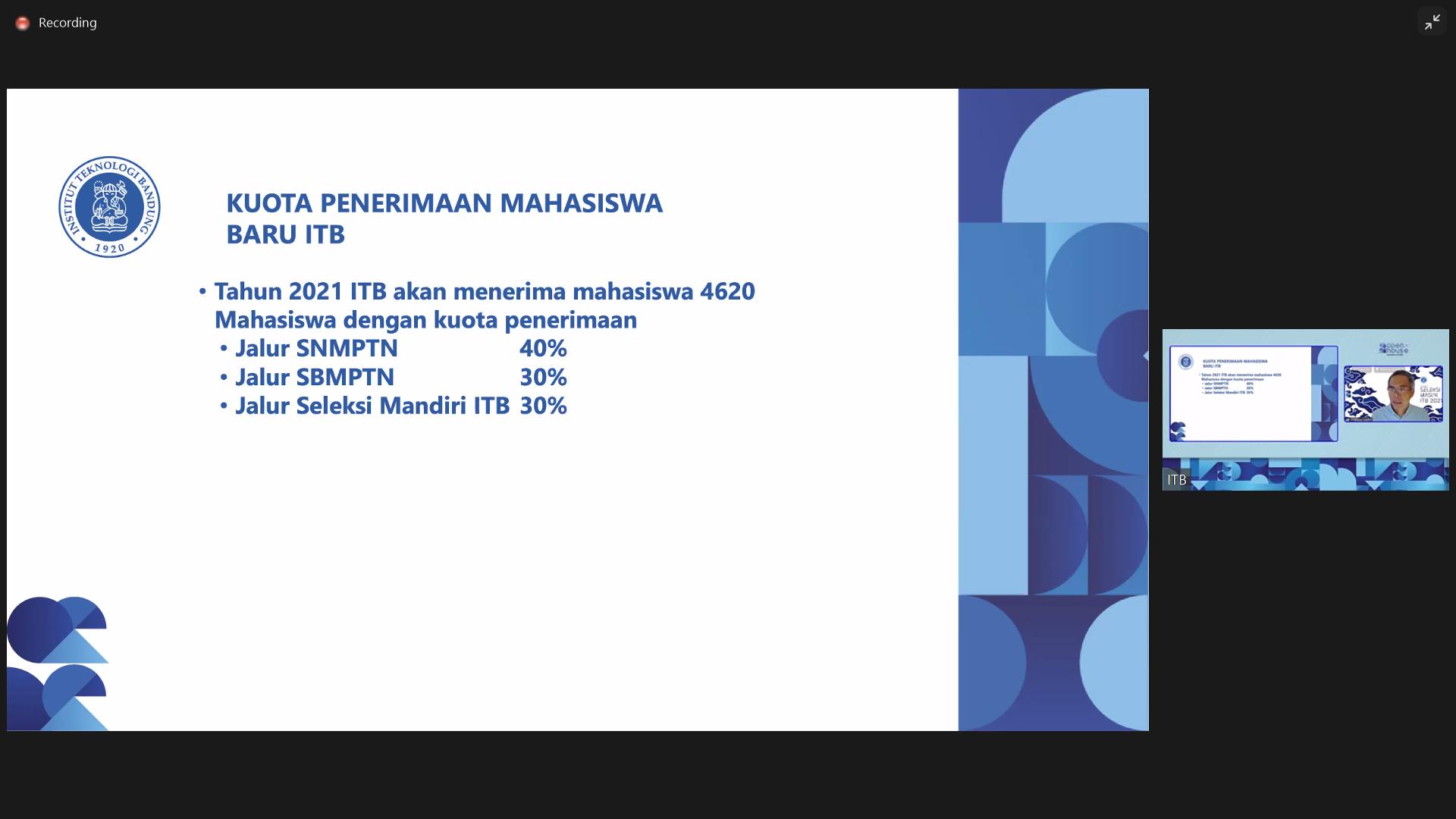 Luncurkan Admission Itb Itb Siap Mulai Pendaftaran Mahasiswa Baru 2021 Institut Teknologi Bandung