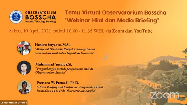 Bosscha Observatory Virtual Gathering, Revealing Hilal and Its Observations