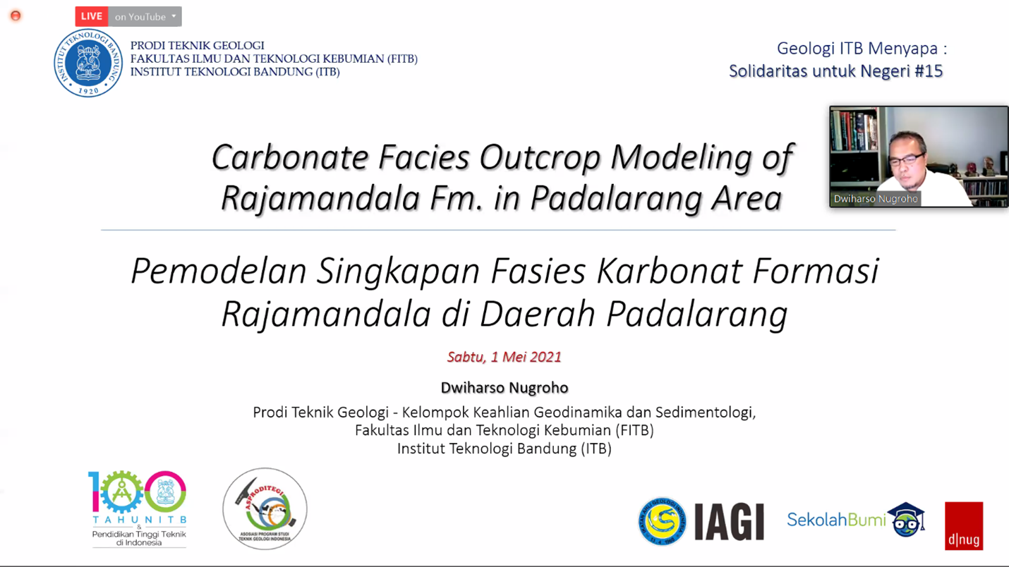 ITB Lecturer Performs Modeling of Carbonate Facies Outcrops of the Rajamandala Formation in Padalarang