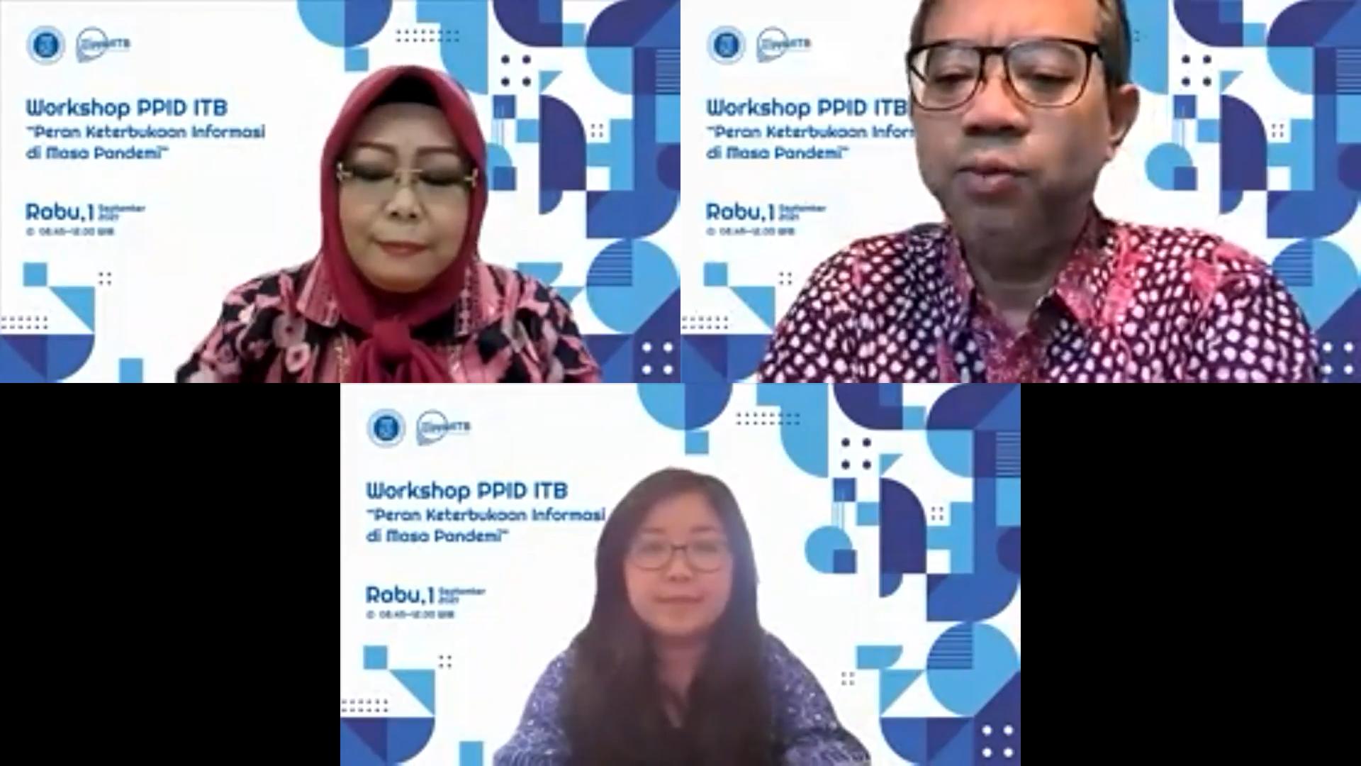 Workshop PPID ITB: Digitalisasi Jadi Kunci Keterbukaan Informasi Publik di Masa Pandemi