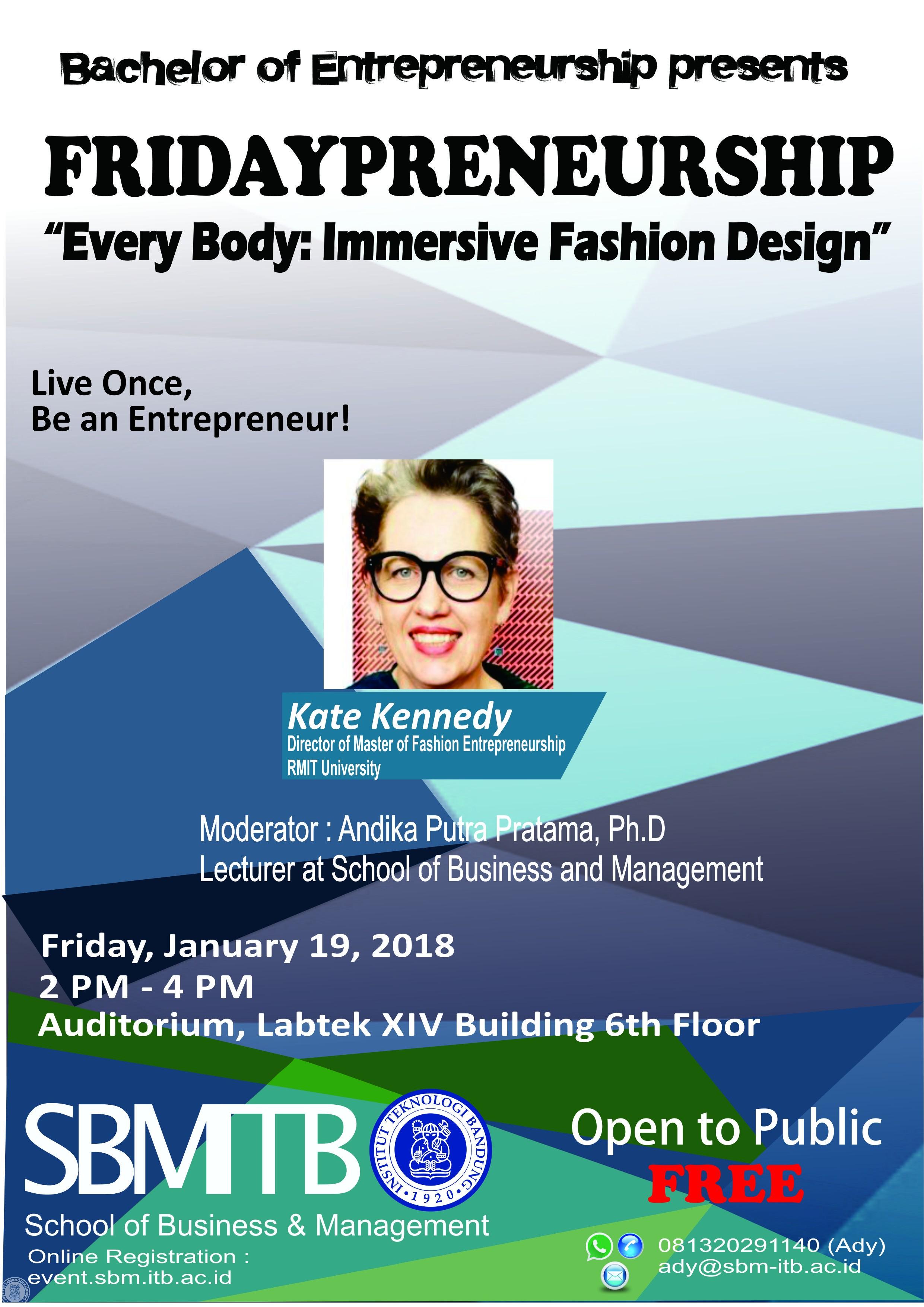 Fridaypreneurship 19 Januari 2018