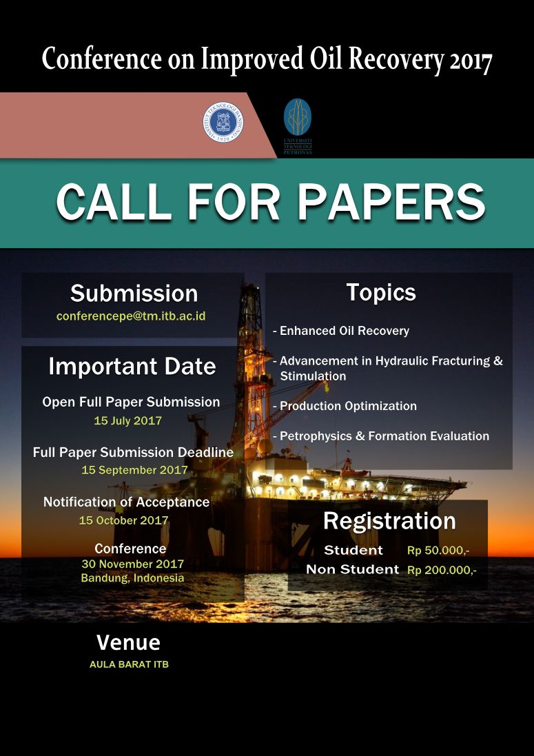 Call For Papers - Conference on Oil Recovery