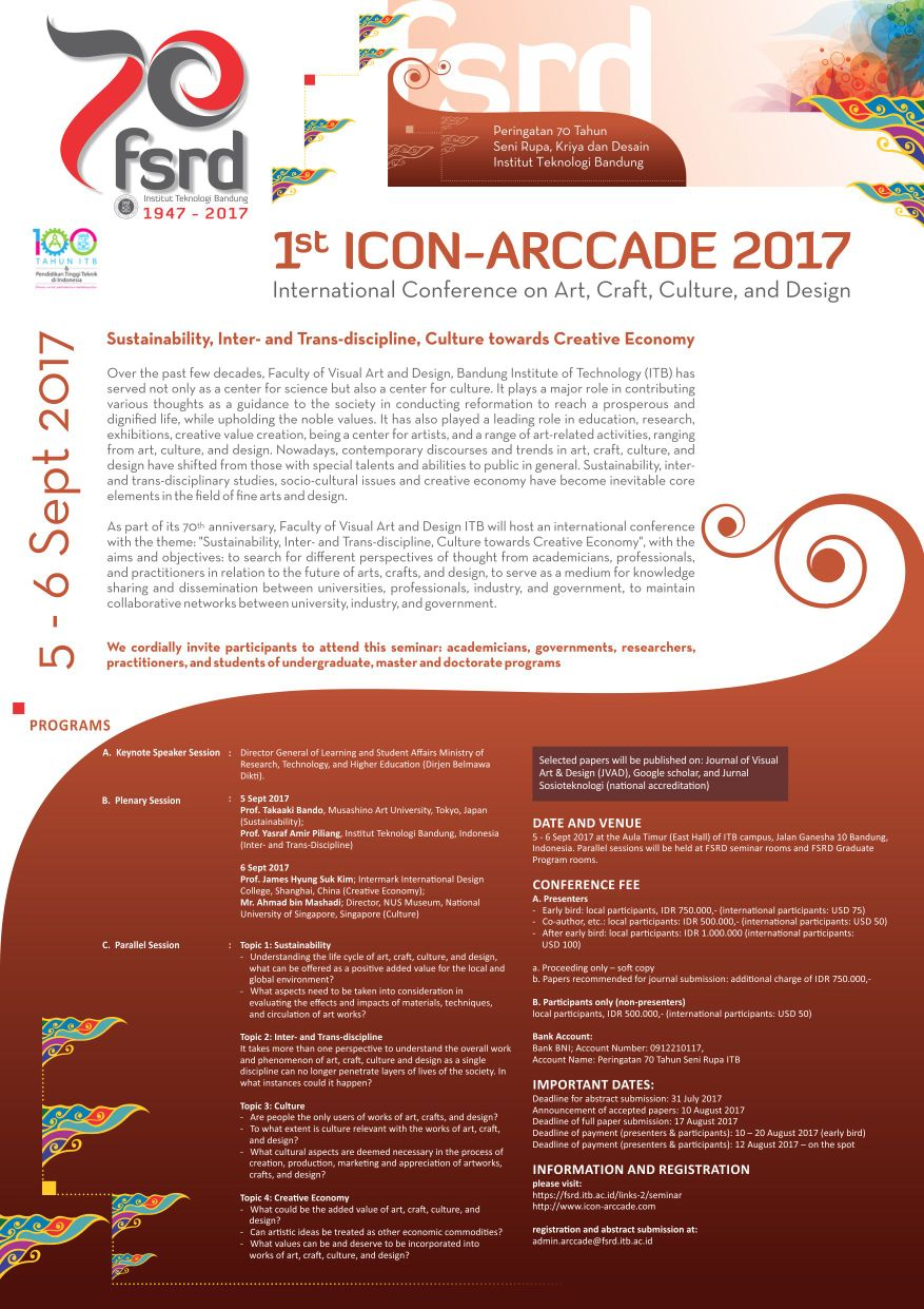 1st International Conference on Art, Craft, Culture, and Design