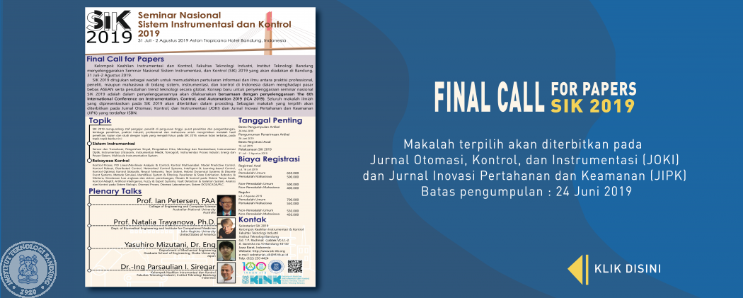 Call For Paper SIK 2019