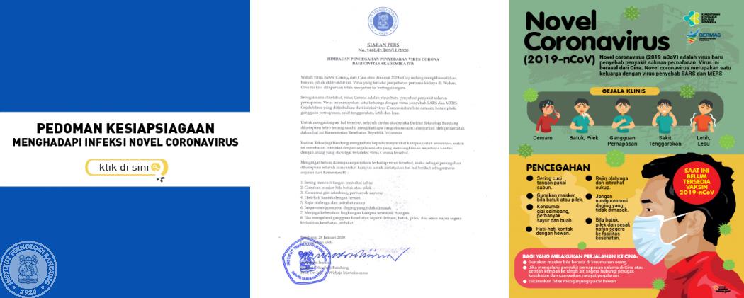 Himbauan Pencegahan Penyebaran Virus Corona bagi Civitas Akademika ITB