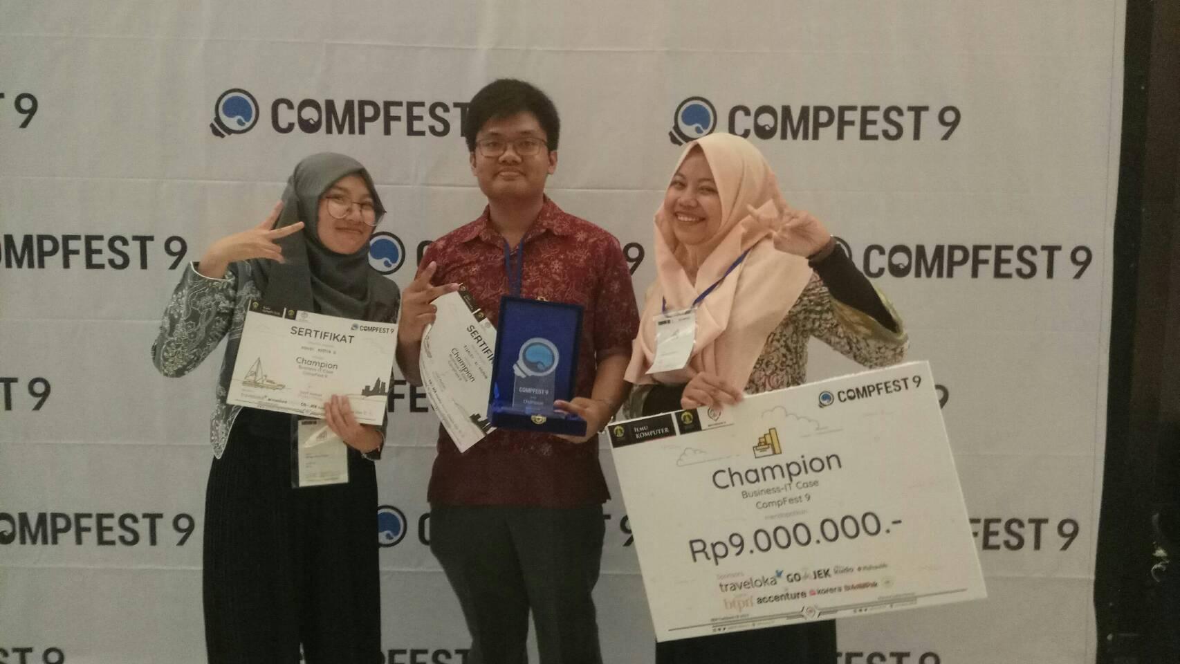 Tidak Puas dengan Juara 3, Tim RNA Bangkit Kembali dan Menangkan Juara 1 Business IT Case di Compfest 9