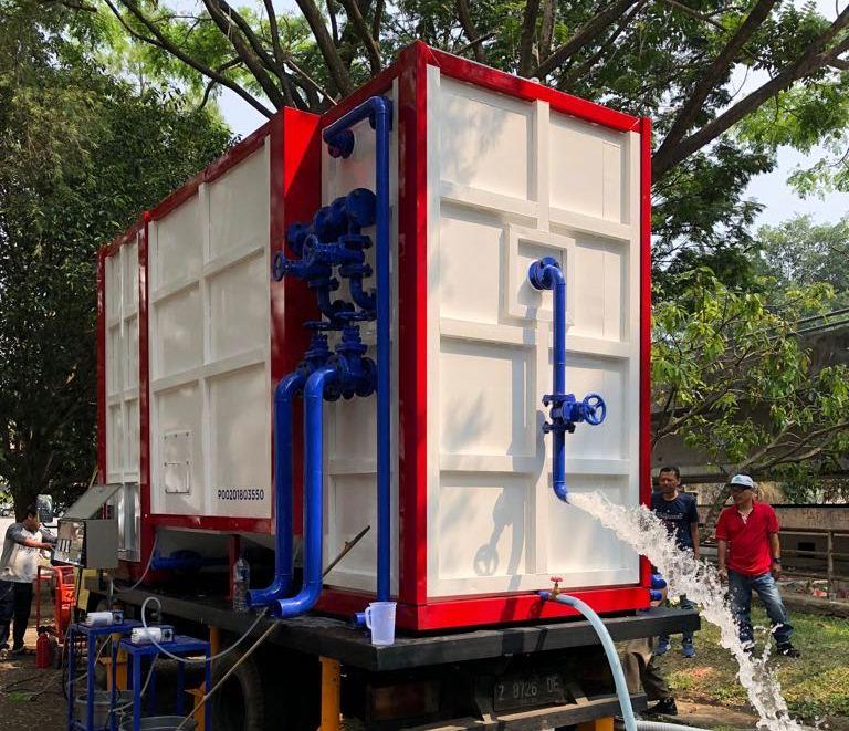 Instalasi Pengolahan Air ITB untuk Gempa Lombok. Foto: itb.ac.id