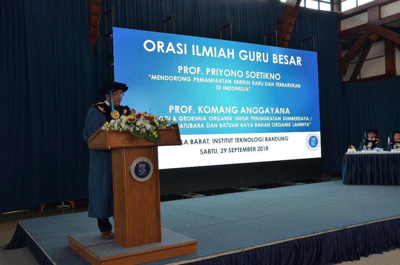 Prof Priyono Soetikno Indonesia Mempunyai Potensi Energi Baru Dan