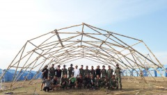 Bantu Korban Bencana Palu, ITB Bangun Shelter dari Bambu Sebagai Hunian Sementara