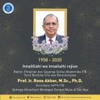 Obituari: Selamat Jalan Guru Besar SAPPK ITB, Prof. Ir. Roos Akbar